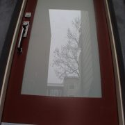 Frosted glass Entry Door for privacy