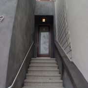 Entry stairs with new door