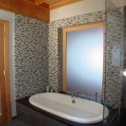 Master Bath spa with sliding door for privacy