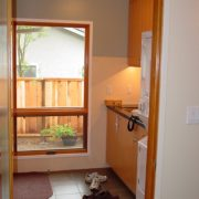 Laundry Room, new tall window for natural light and garden connection