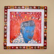 Blue Elvis on wall?!?