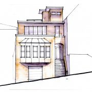 Front elevation concept sketch - San Francisco (by colleague Jacki Yahn)