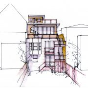 Rear elevation sketch - San Francisco (by colleague Jacki Yahn)