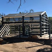 wine country steel framework with windows