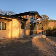 Rear elevation with view to the Sonoma foothills.