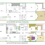 San Francisco remodel ~building down 2nd flr b4/aft