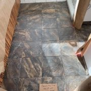 Master bathroom floor.