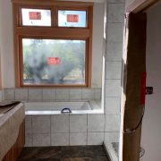Master bathroom tile installation