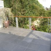 Pedastal decking and steel cable railing at 2nd floor deck