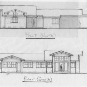plan 5(a) front and rear elevations