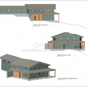 wine country front and side elevations and schematic view