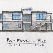 rear elevation with flat roof