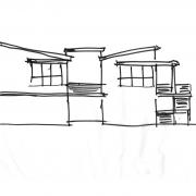 rear elevation shed