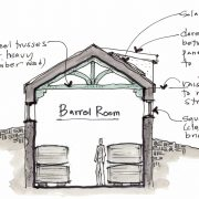 Barrel room concept sketch - Glen Ellen
