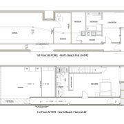 STOCKTON Unit #2 1st flr Before and After plans