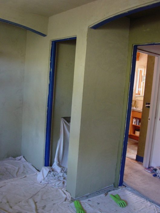 Clay plastered walls