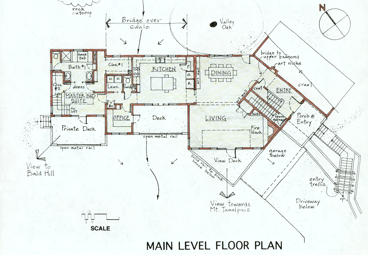 main level floor plan kentfield