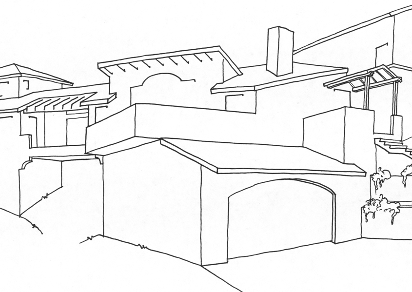 perspective sketch kentfield architecture